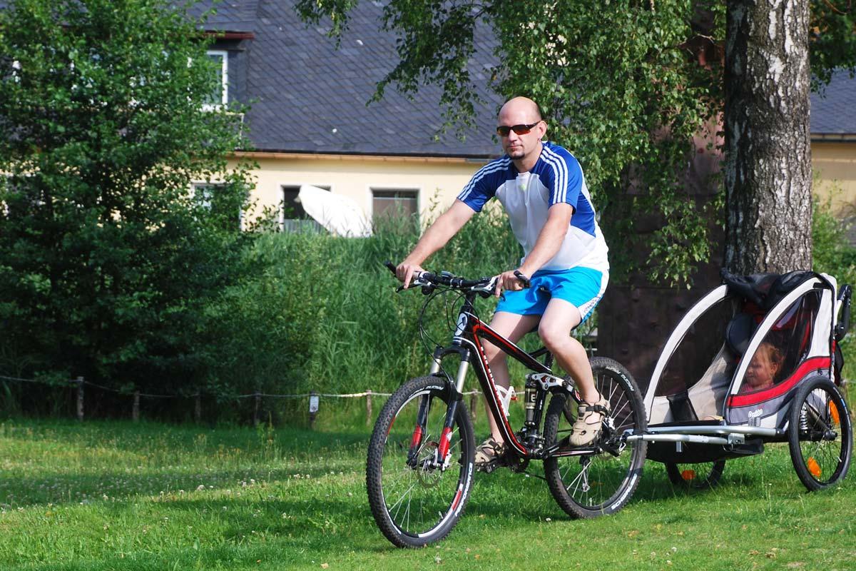 Fahrradtour mit Kind