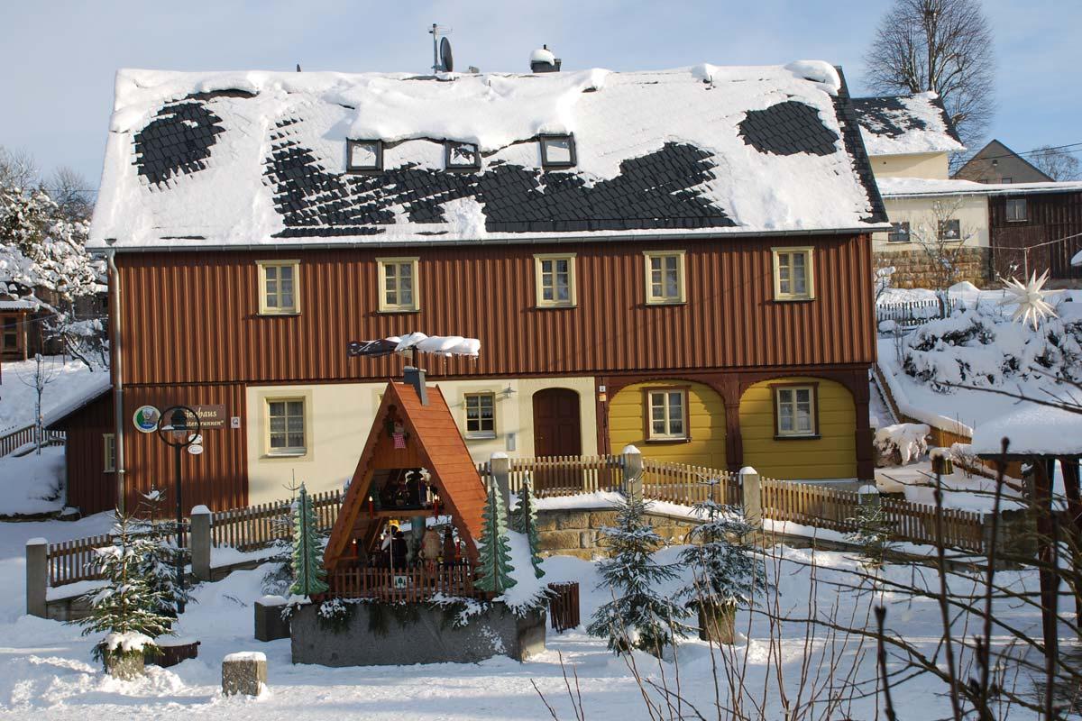 Ferienhaus Osterbrunnen im Winter